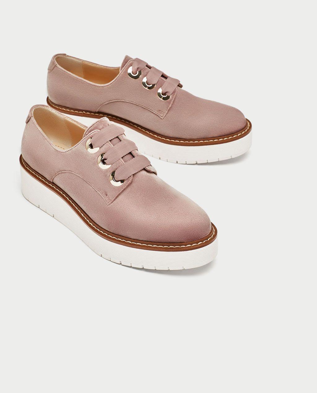 OscuroCorte TerciopeloCierre Zapato Plano Rosa En Color wv80ymnON