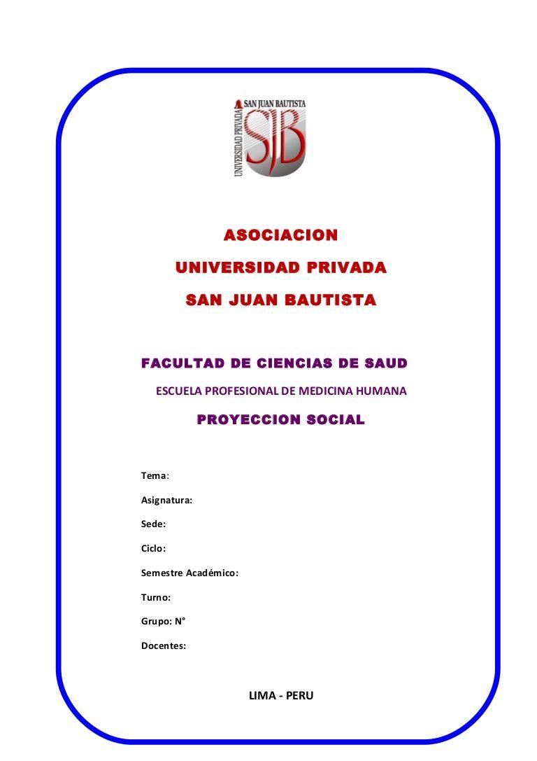 Resultado de imagen para caratula san juan bautista universidad ...