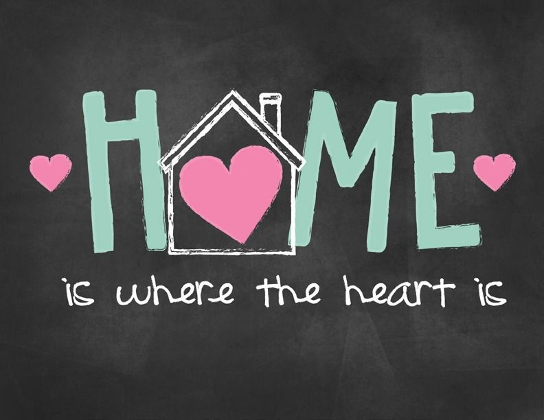 Home Is Where Your Heart Is Printable Valentines Day Chalkboard