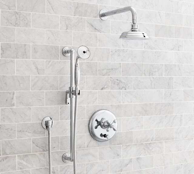 nice example of a wall mounted shower head and gooseneck combination rh pinterest com