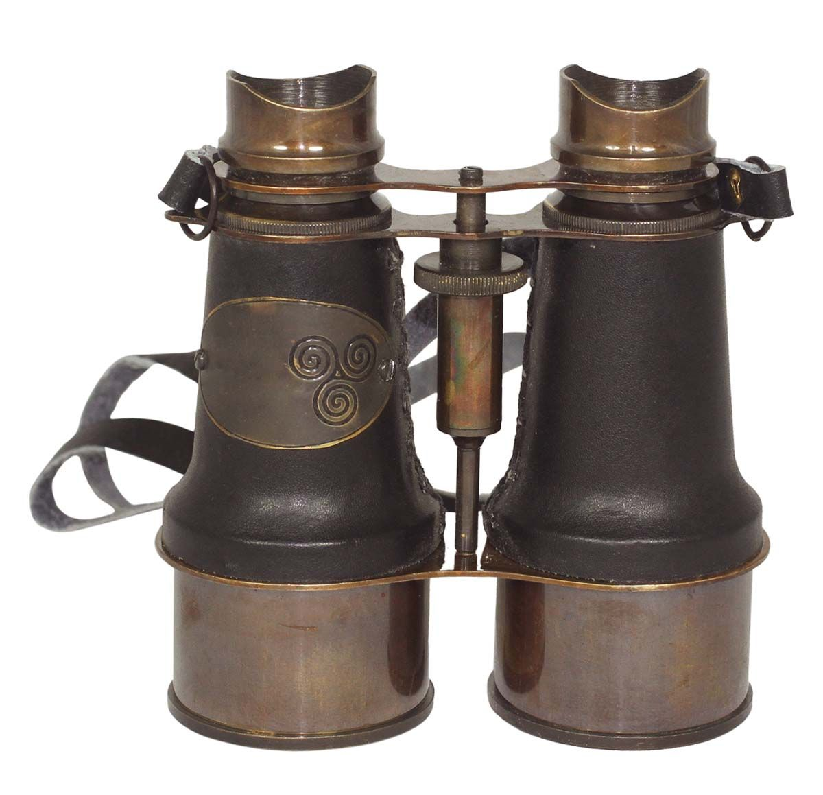 Nautical Brass Vintage Binocular With Leather Box Collectible Decor Great Gift
