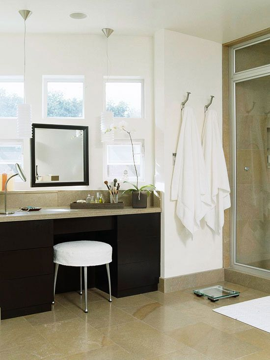 bathroom makeup vanity ideas project house giezl loves diy rh pinterest com