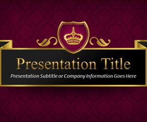 queen powerpoint template is a free royal ppt template slide, Powerpoint templates