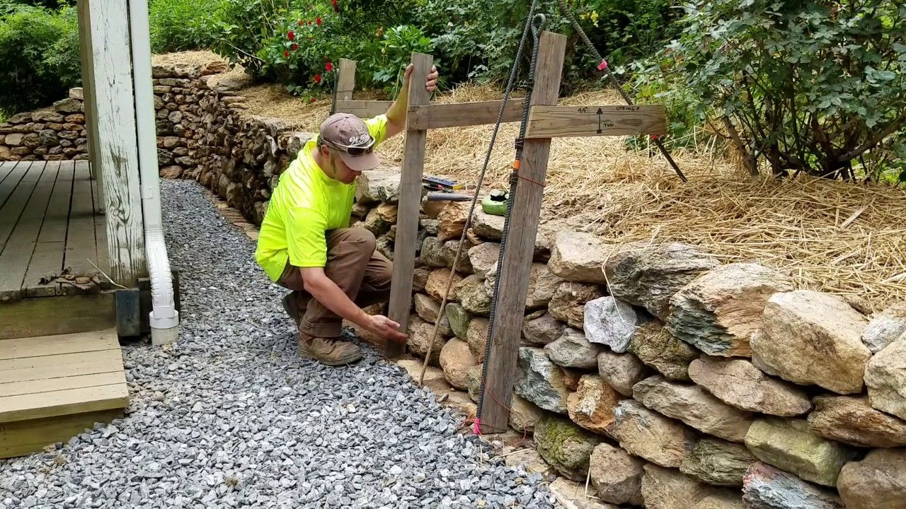 Diy How To Build Install Single Sided Wall Frame Dry Stone Retaining Dry Stone Wall Natural Stone Retaining Wall Stone Retaining Wall