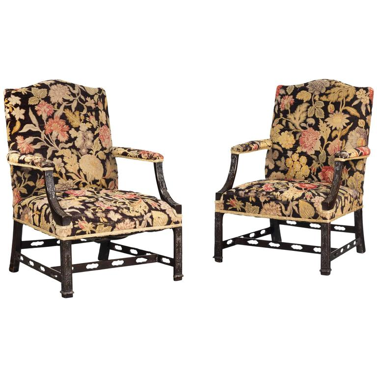 pair of chippendale style mahogany gainsborough chairs 1900 rh pinterest com