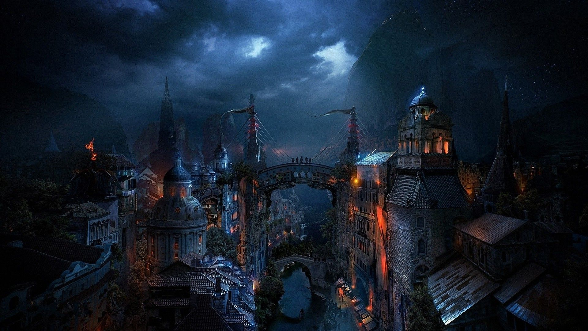 download hd wallpapers of 54733 fantasy art cityscape free rh pinterest com