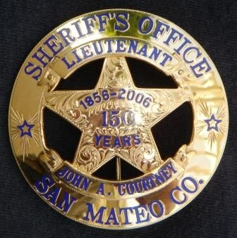 San Mateo county Sheriff Calif anniversary | LE badges