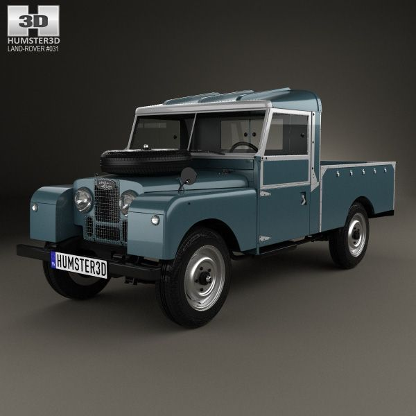 Land Rover Freelander 2 Lr2 3d Model: Land Rover Series I 107 Pickup 1958 3d Model From