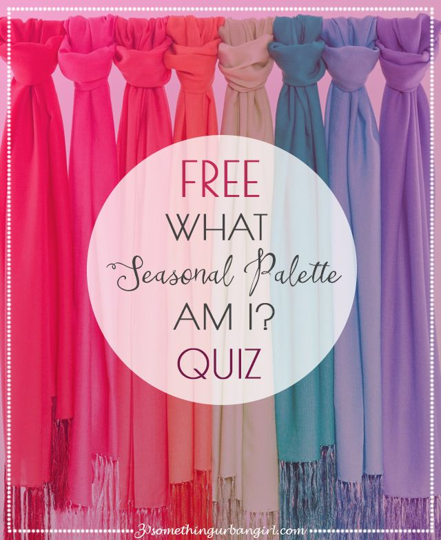 FREE Quiz! What is your Seasonal Color Palette | Style in