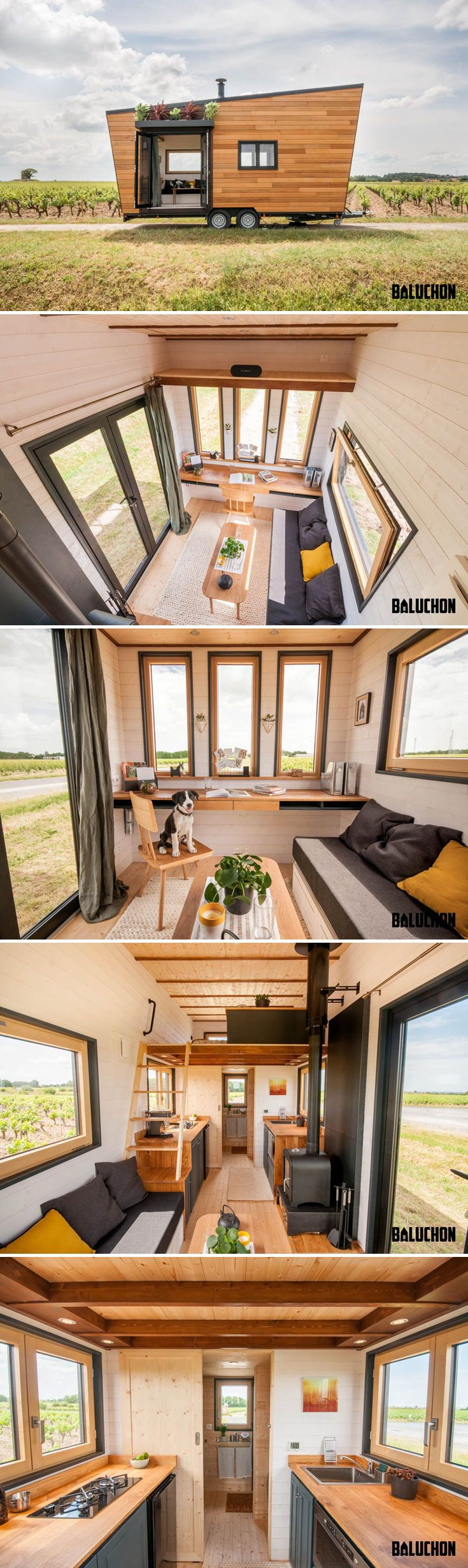 intr pide by baluchon tiny houses tiny house cabin tiny house rh pinterest com