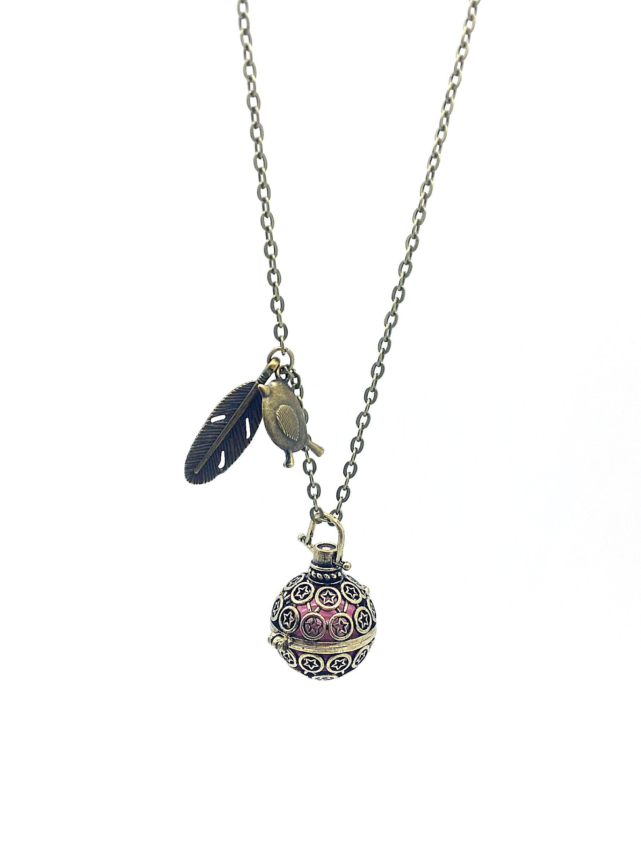 """Bola de grossesse """"Plume & Oiseau"""" couleur bronze"""