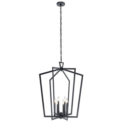 Conservative Contemporary Pendant Black Chandelier Lantern Chandelier Light