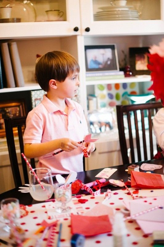 Card Making Party Ideas Part - 17: DIY | Valentine Crafts | Kids Party | Valentine Card-Making Party | Natalie  Bradley