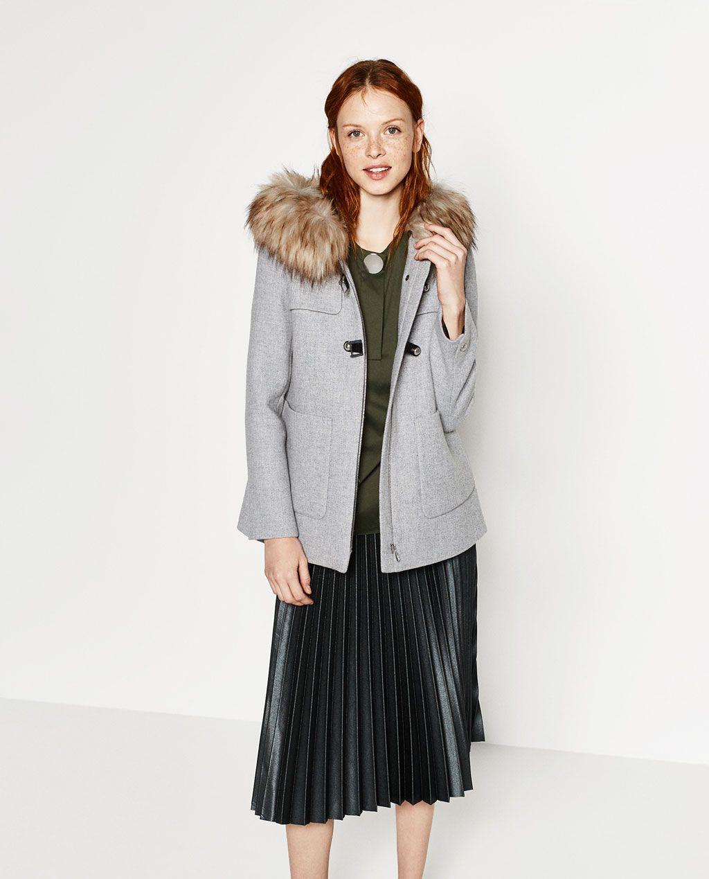 Abrigo lana linea a zara