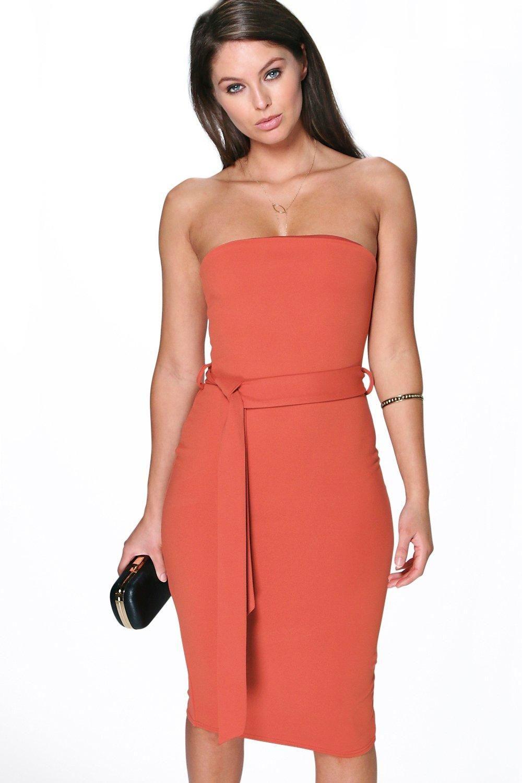 c90d850f6268 Lizzie Bandeau Tie Belt Midi Dress   Wish List. Want List ...
