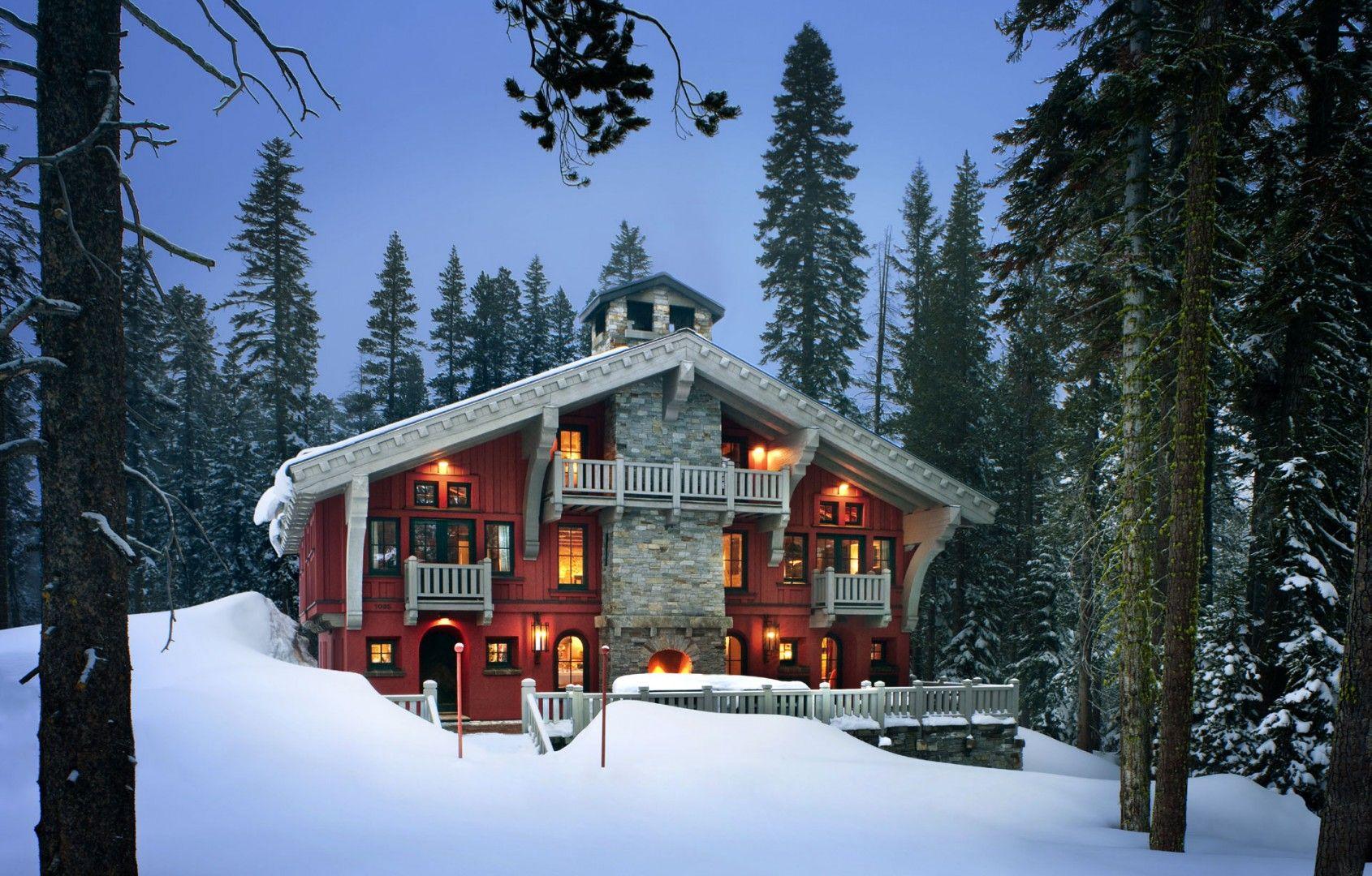 Alpine Ski Chalet- House In Snow Architect John Malick