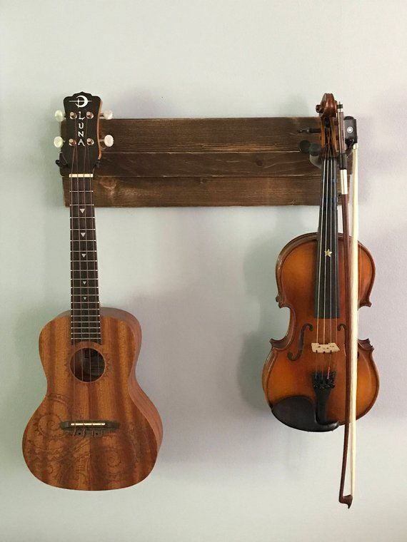 Wooden Ukulele Wall Hanger Also Great For A Mix Of Guitar
