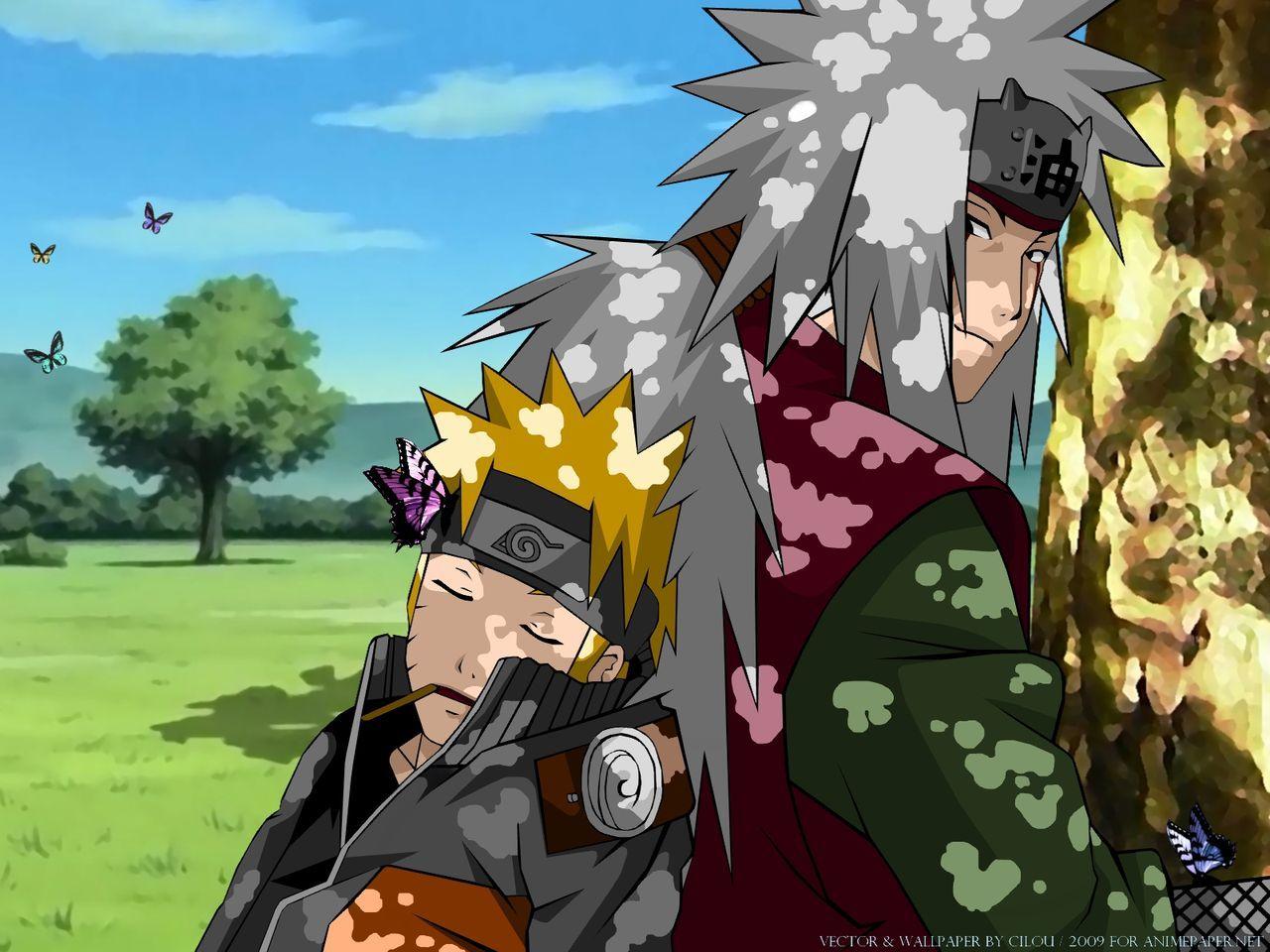 Naruto Uzumaki And Jiraiya Sensei Anime Anime Naruto Naruto Wallpaper