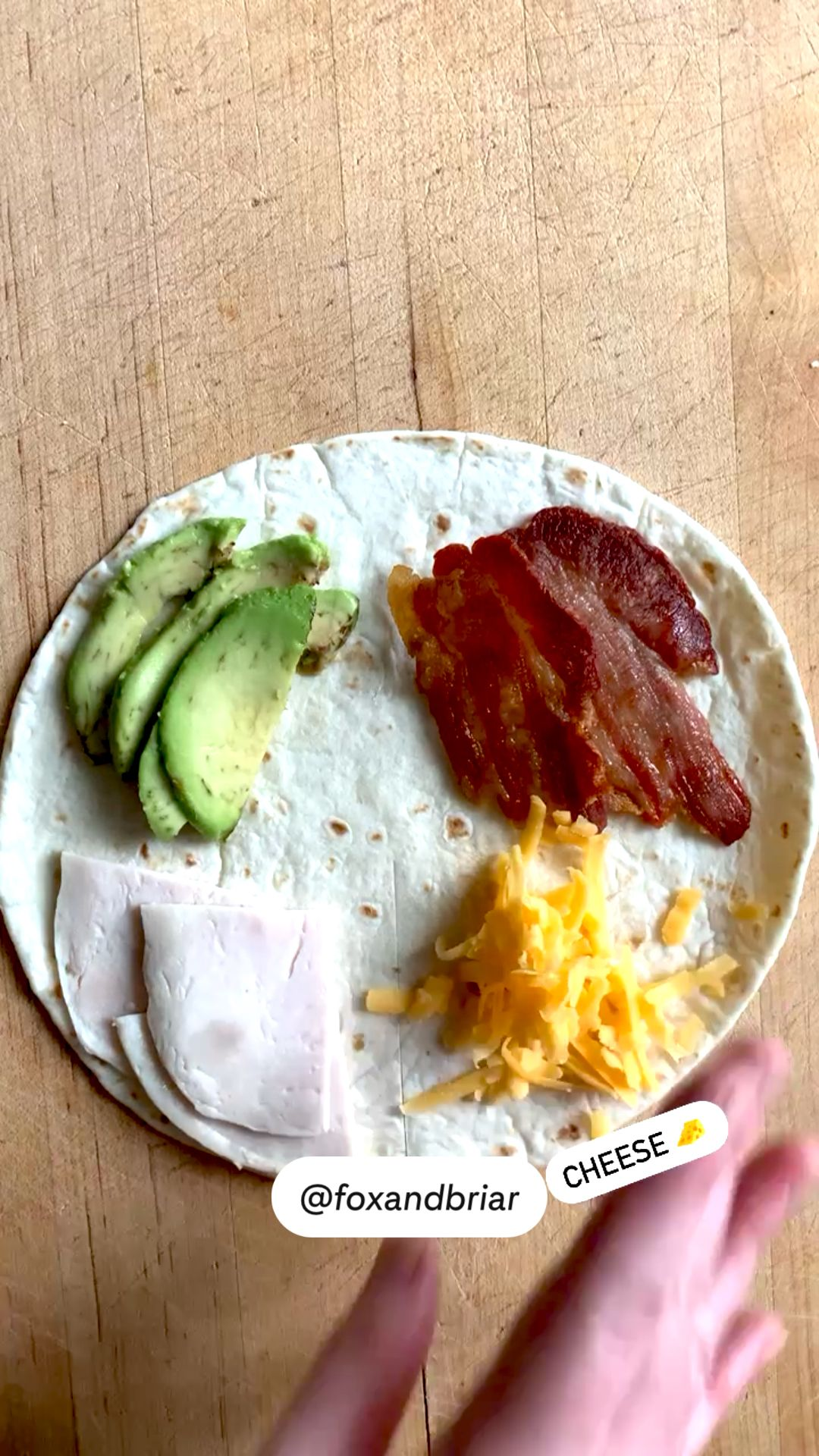 Turkey Bacon Avocado quesadilla