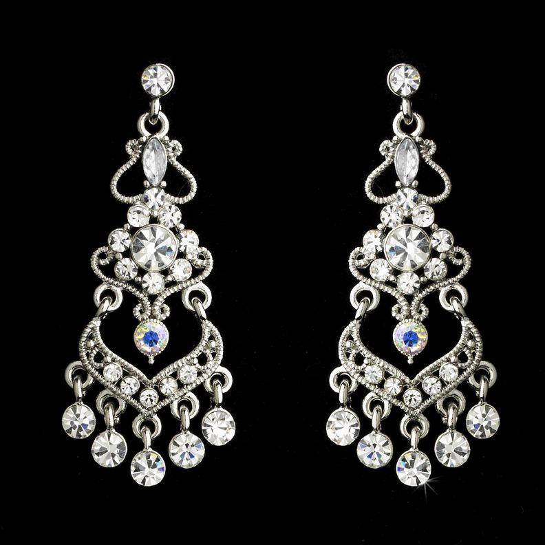 Dazzling Rhinestone Chandelier Bridal Earrings Bridal Earrings