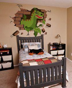 dinosaur mural t rex paint by number children s murals kid s room rh pinterest com
