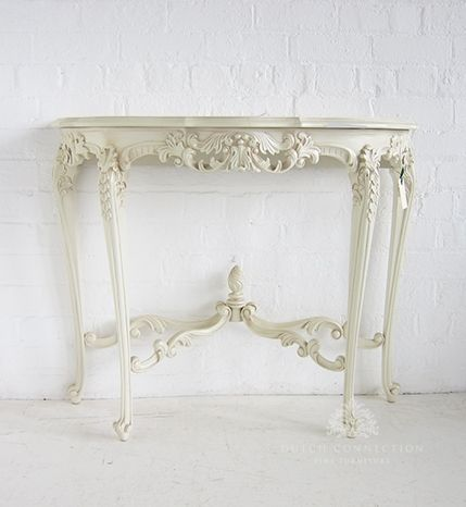 Ornate French Hall Table Half Round Side Table Carved Dutch