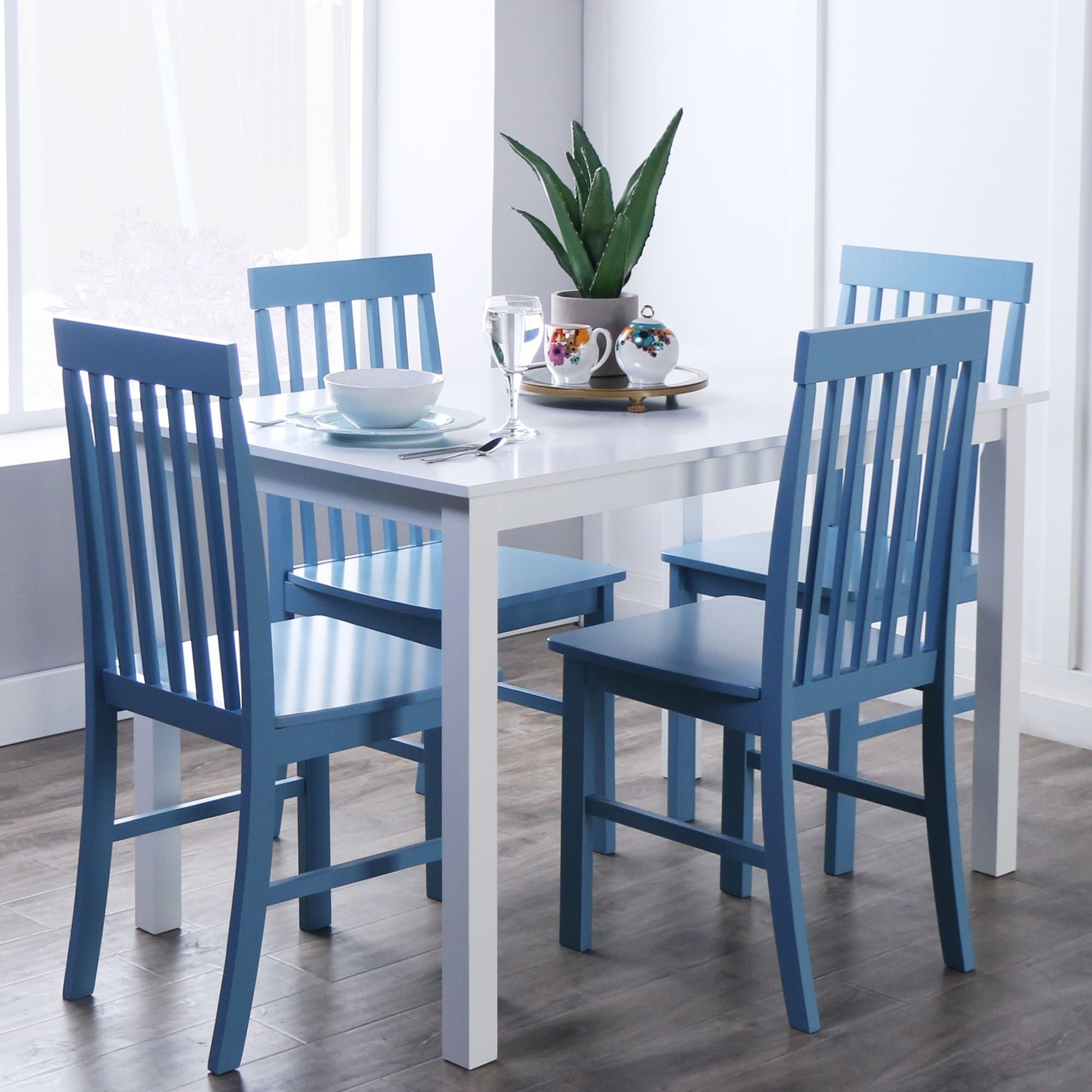 havenside home 5 piece white and powder blue dining set greyson 5 rh pinterest com