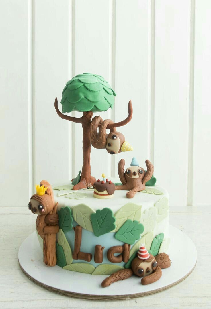 Pin By Alyssa Weiss On Sloths Sloth Cakes Sloth Sugar Art