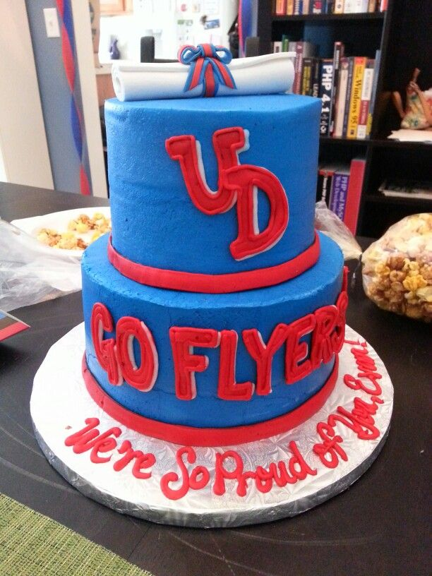 Ohio Graduation Parties University Of Dayton Cake Flyers Trunk Party Photos