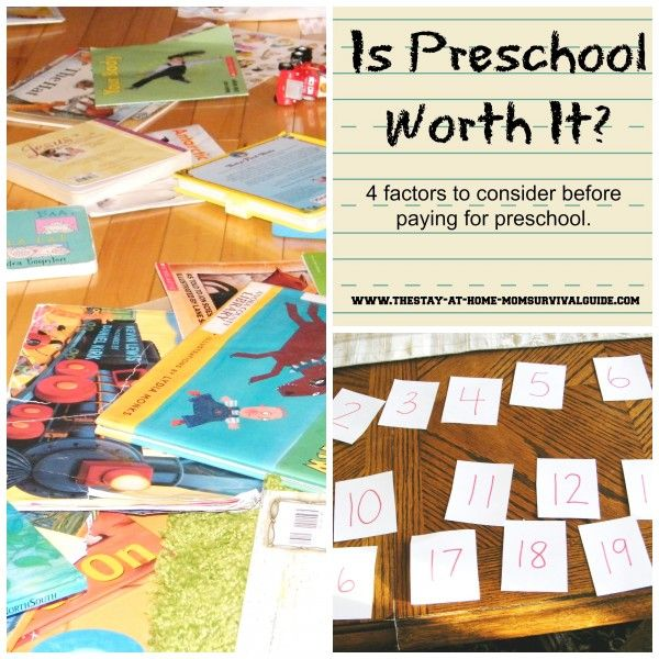 Is Preschool Worth It?  from The Stay-at-Home-Mom Survival Guide