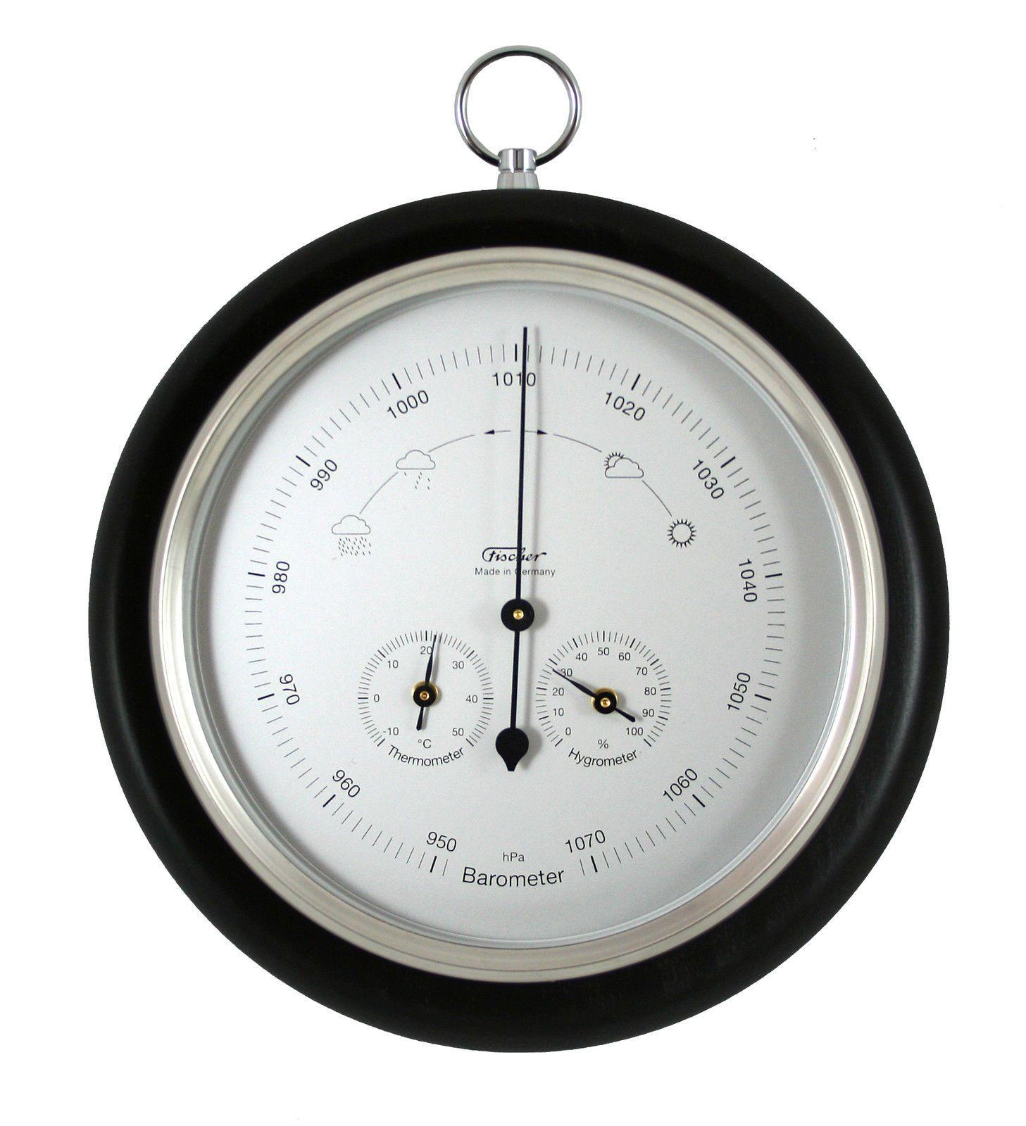 Fishing Barometer Thermometer Hygrometer Silver Black 1694rs 06 Uk Ebay Barometer Hygrometer Thermometer