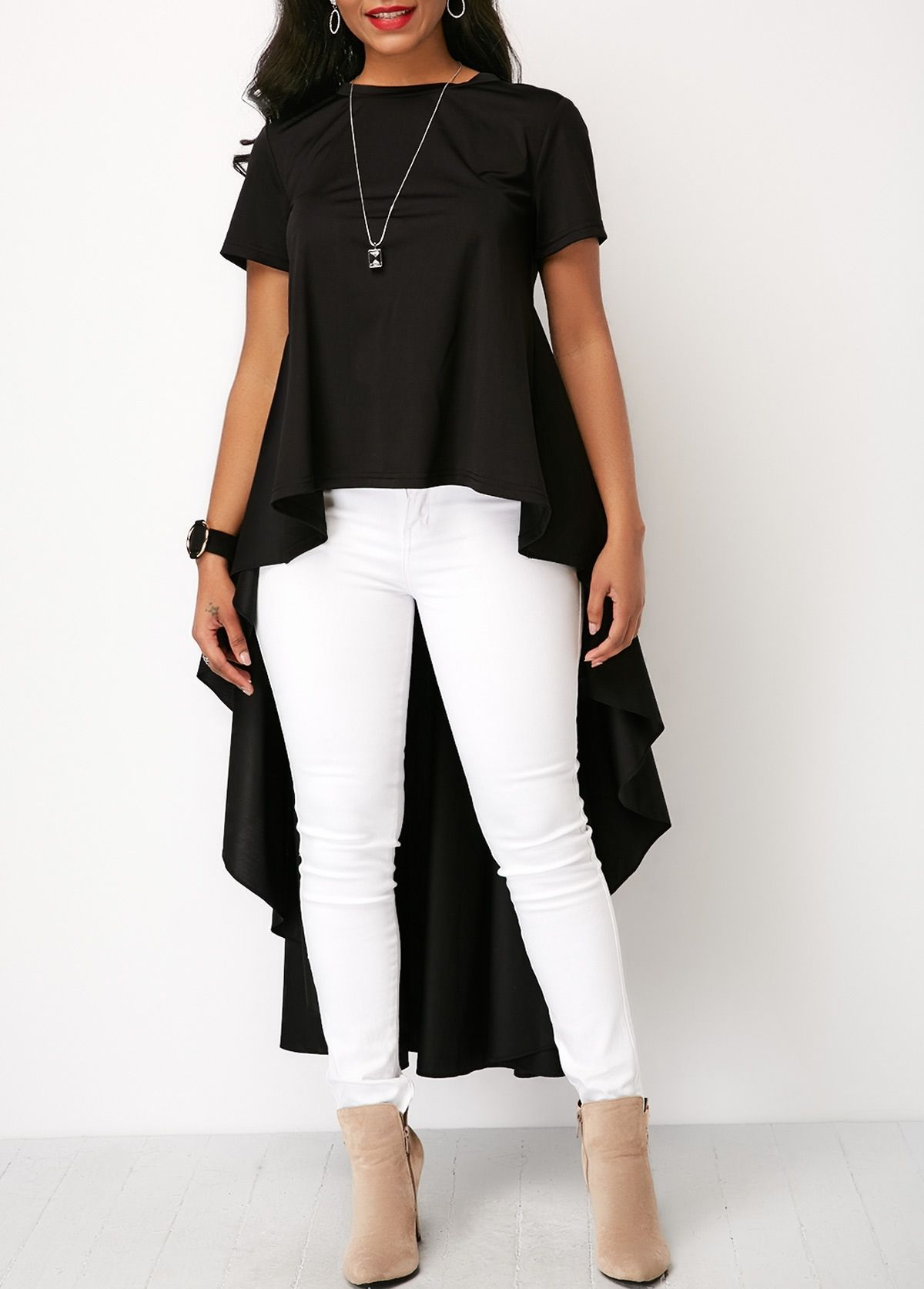88bf6d725ed Beautiful Tops #Tops #rosewe | Women's Tops in 2019 | Fashion, Black ...