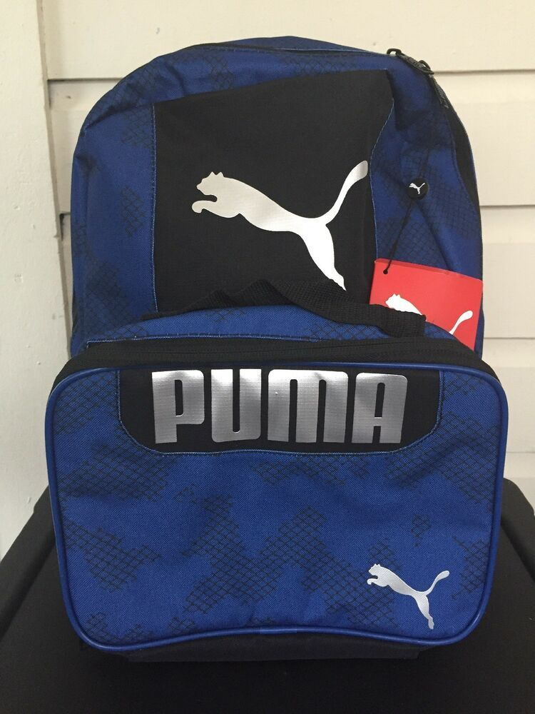 100347fc8e9 PUMA Evercat Grub Combo 2.0 Blue and Black Boys/Girls Backpack and Lunch  Bag 888394520546 | eBay
