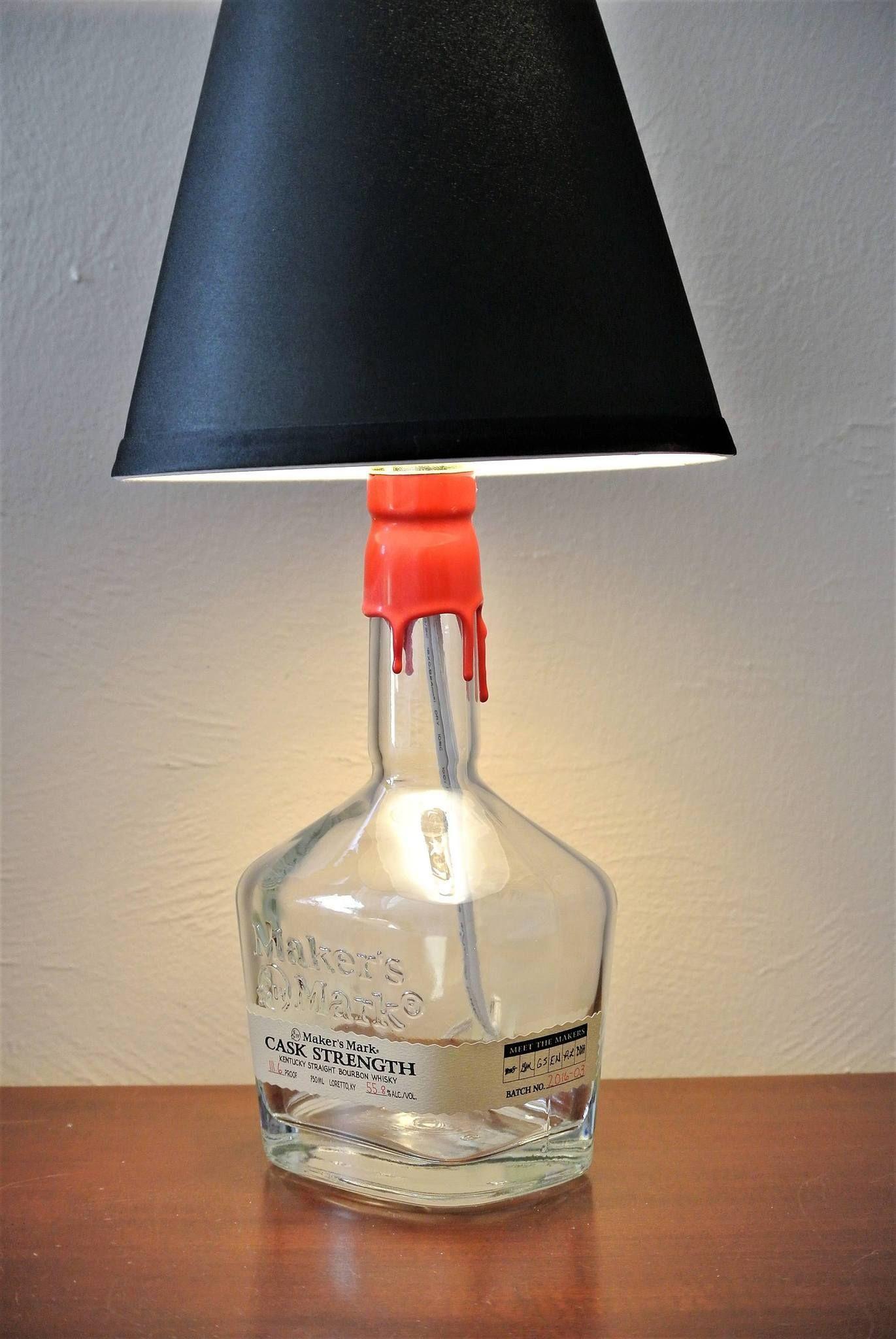 Makeru0027s Mark Cask Strength Bottle Lamp BottleLamp