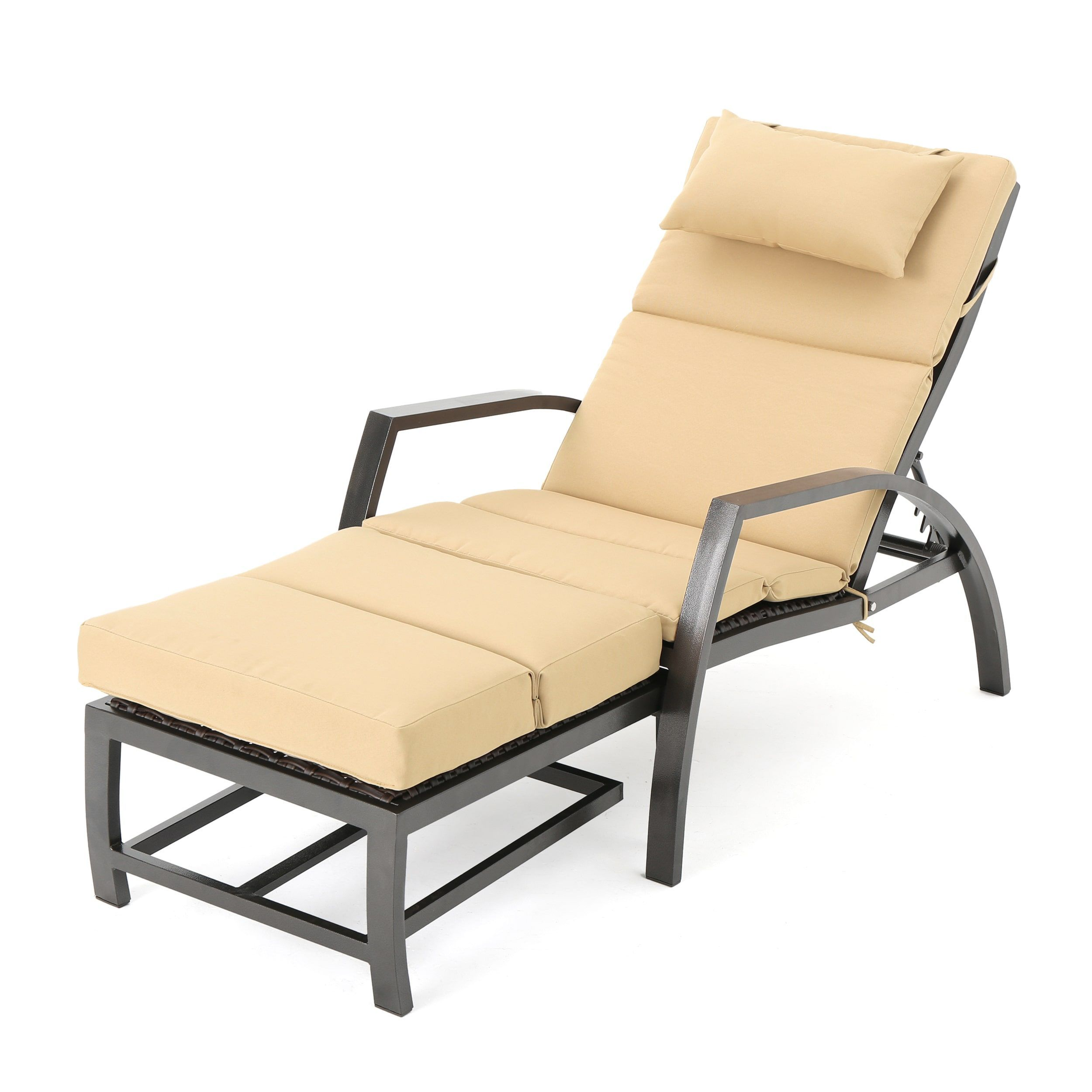 napa outdoor aluminum wicker chaise lounge with cushion by rh pinterest co uk