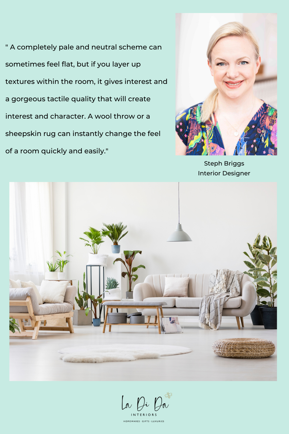 Our MD & Interior Designer Steph shares a top tip for adding warmth to a neutral, cool themed room. To shop interior design inspo, check out our online store. #interiordesigntips #interiordesigninspiration #interiordesigner