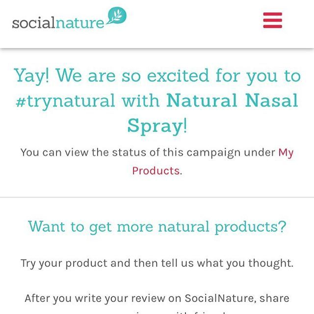 Yay!!! Can't wait to #trynatural with @socialnature and Xclear nasal spray!