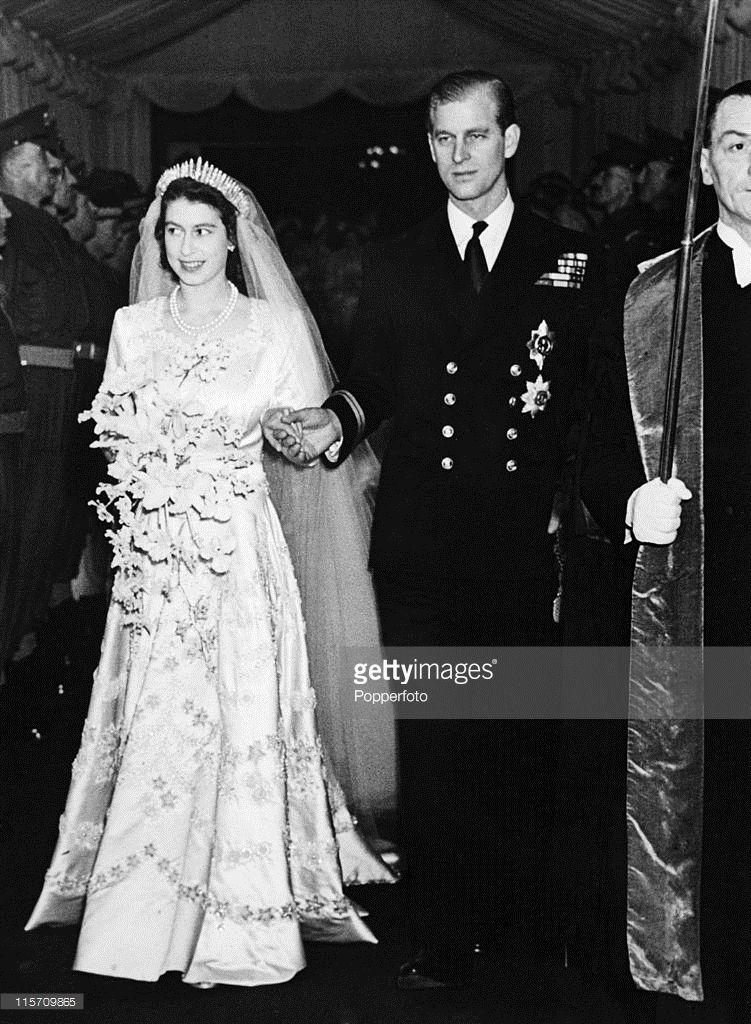 Princess Elizabeth, now Queen Elizabeth II, and Prince