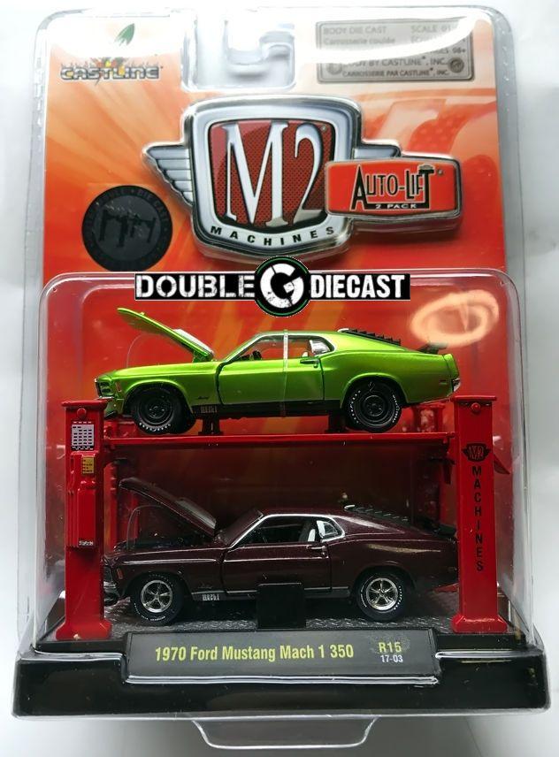 1 64 m2 auto lift 2 car set 1970 ford mustang mach 1 350 r15 latest rh pinterest com
