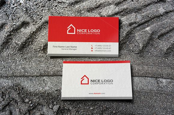 Simple house business card simple house business cards and business simple house business card templates business cards created in adobe illustrator bonus vector logos included fully layered files by indigo graphic reheart Gallery