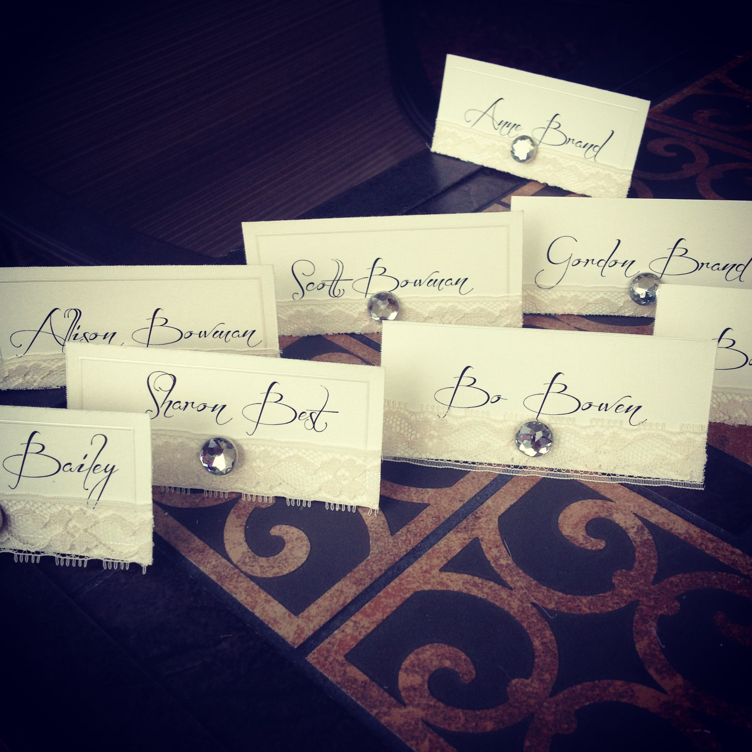 craft ideas for wedding place cards%0A DIY place cards  Easy and affordable