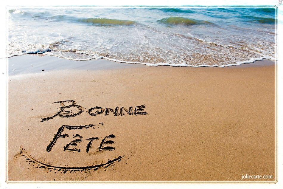 Carte Virtuelle Bonne Fete Dominique.Bonne Fete Plage Voeux Fete Sur La Plage Image Bonne