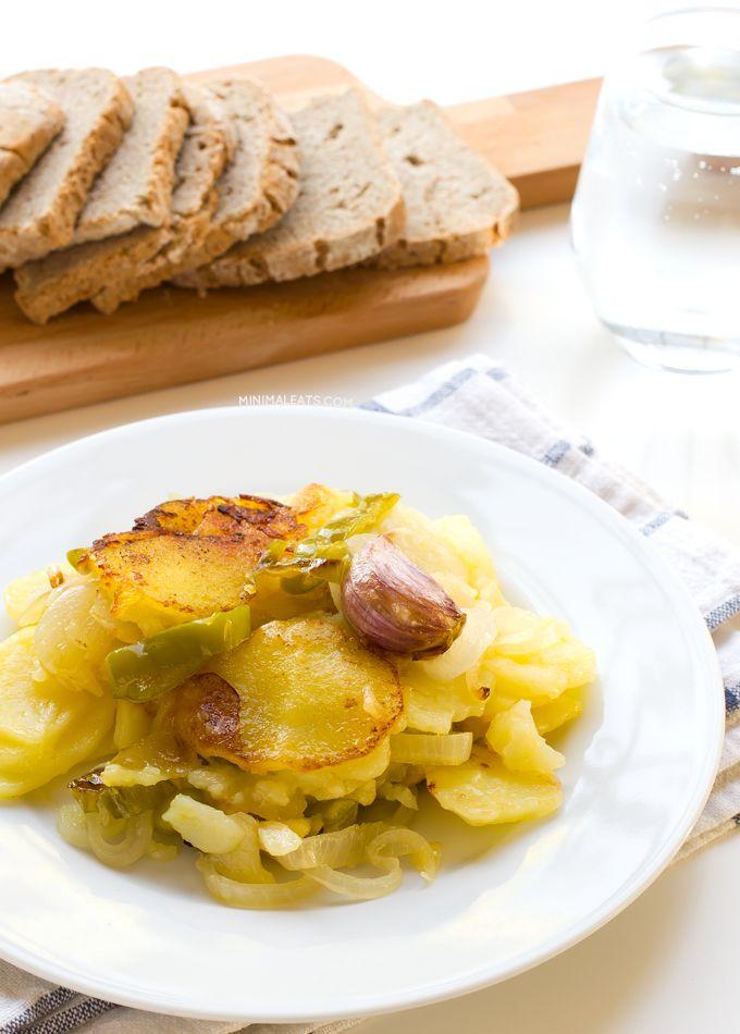 Patatas A Lo Pobre Poor Man S Potatoes Patatas A Lo Pobre Poor Man S Potatoes Is A Typical Spanish Recipe And It S Vegan You O Recipes Potatoes Cafe Food