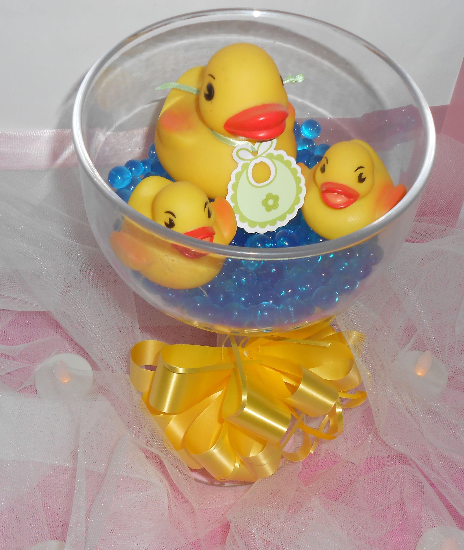 diy duck centerpiece duck baby shower baby shower duck baby rh pinterest com