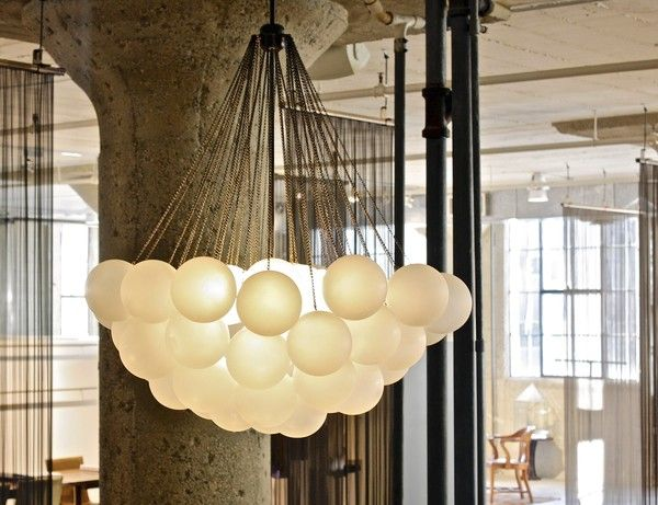 the cloud pendant from apparatus uses chains that blur the line rh pinterest com
