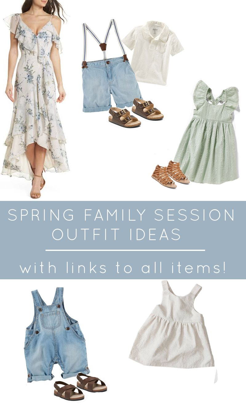 Spring Family Session Outfit Ideas - Katie Lamb  Family portrait