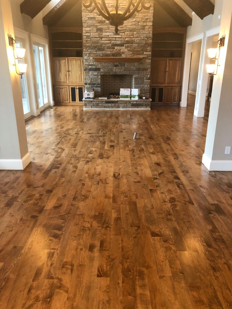 Bona Early American Stain On Maple Hardwood Floors In 2020 Hardwood Floors Maple Floors Maple Hardwood Floors