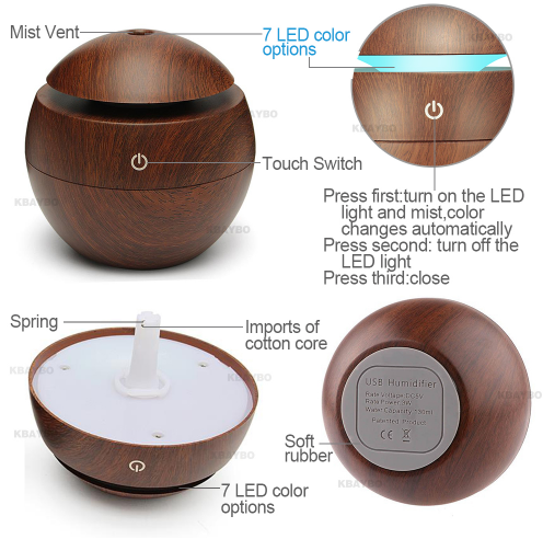 Essential Oil Diffuser Aroma Essential Oil Color Changing Led Cool Mist Humidifier