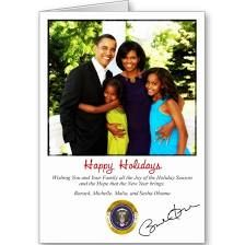 Barack Obama Holiday Christmas Card