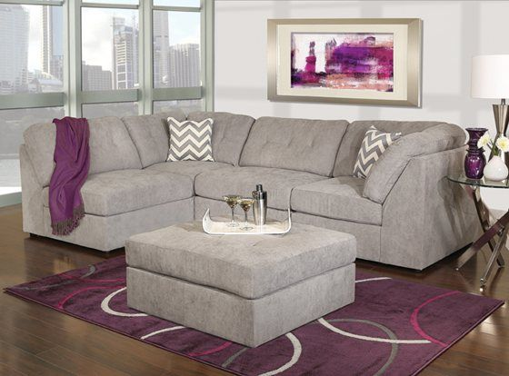 Fantastic Kanes Furniture Caprice 4 Piece Sectional Living Room Evergreenethics Interior Chair Design Evergreenethicsorg